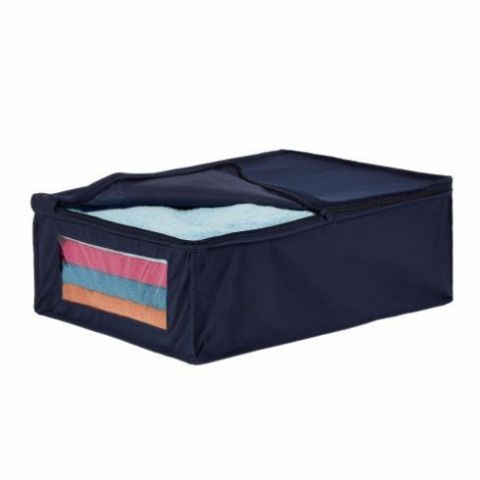 6 Breathable Navy Storage Bags - With handles